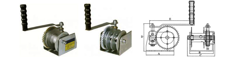 Manual Worm Winch